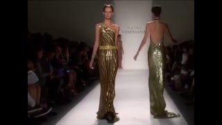 Models tripping and falling during Venexiana fashion shows