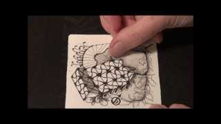 Undine: Original Zentangle® pattern from Jane Dickinson, CZT