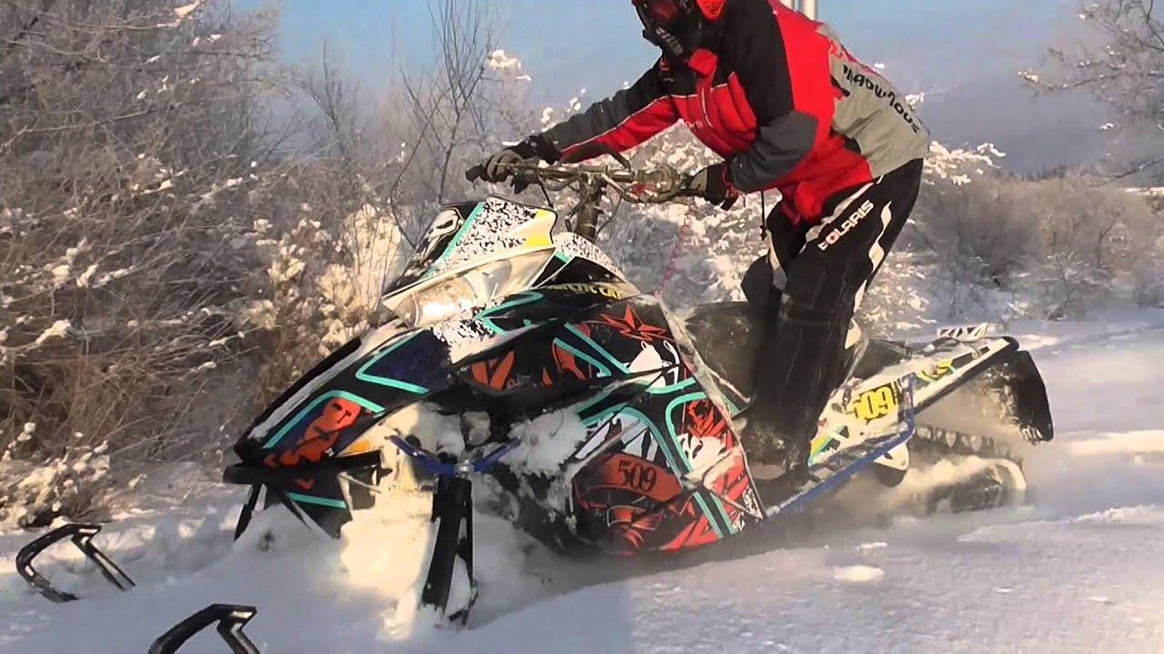 Как сделать за снегоходом
