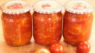 Помидоры консервированные без соли, сахара и уксуса / Canned tomatoes ♡ English subtitles