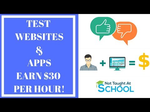 Get Paid To Test Websites & Apps - Earn $30 Per Hour