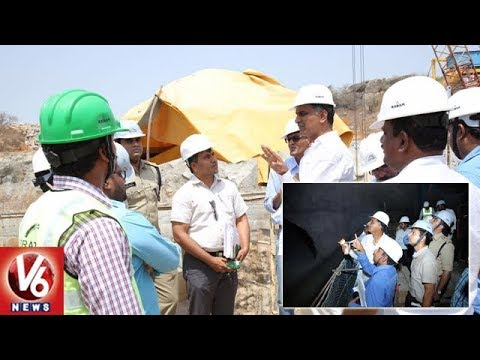 Minister Harish Rao Inspects Kaleshwaram Package 10 Works At Ellanthakunta Mandal | V6 News