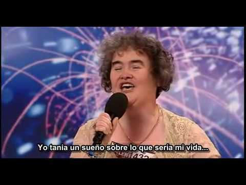 Susan Boyle Subtitulado en espaol (Les Miserables - Episode 1 - Britains Got Talent)