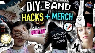 DIY Concert/Music LIFE HACKS + Band MERCH