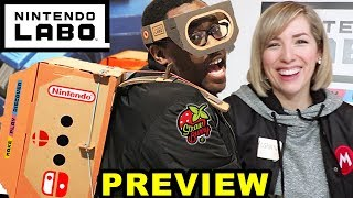 NINTENDO LABO HANDS ON PREVIEW feat. Strawburry17 - Black Nerd