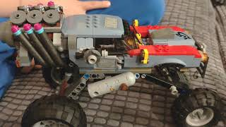 Race between Hound transformer and escape buggy from Lego movie 2