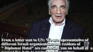 "Internazional Human Rights day  Israel.""Hotel Diplomat"" Intercede for our elders!"