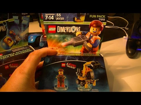 LEGO DIMENSIONS EMMET AND EMMETS EXCAVATOR UNBOXING AND BUILD
