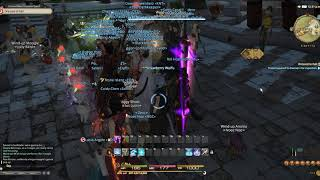 Merry Magic Moogle Mob performing Good King Moogle Mog's Theme (FFXIV Bard Perform)