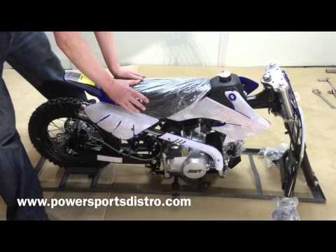 Detailed Assembly of a SSR 125 Manual Pit Bike by Powersports Distro LLC
