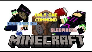 Sleepiness and Dehydration | Minecraft Only One Command