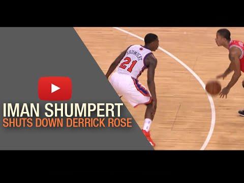 Iman Shumpert shuts down Derrick Rose & puts on a defensive clinic vs the Bulls