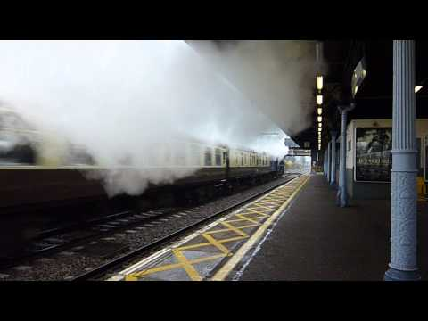 60163 Tornado speeds West past Goodmayes  Up Cathedral's Express  01 Dec 2012