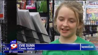 9-Year Old comic creator, Evie Dunn on Bay News 9 for Fetch and Megacon Tampa Bay!