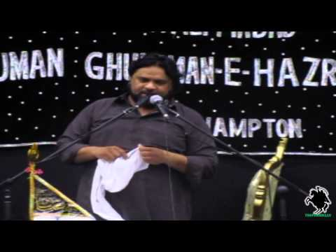 Zakir Shaukat Raza Shaukat - Agha Northampton (uk) - 5th May 2013 jamadi-ul-sani 1434 video