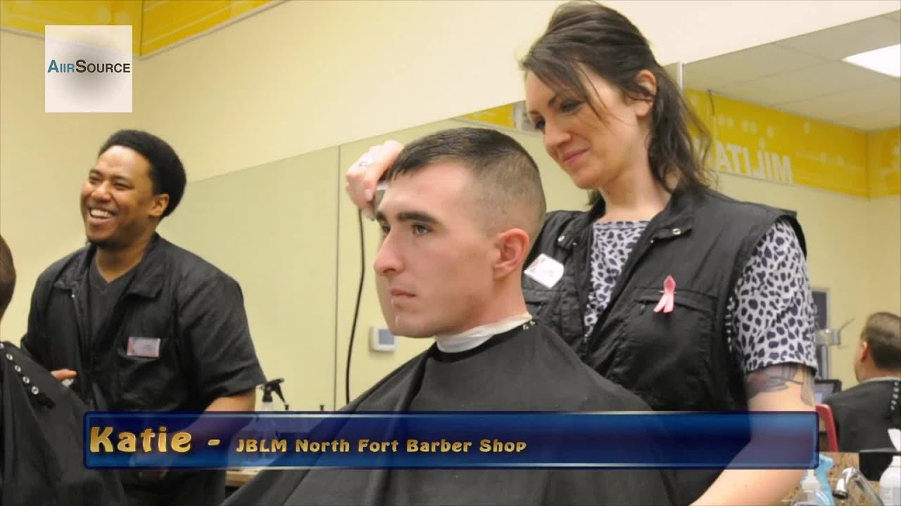 US Army Barber Shop at Joint Base Lewis-McChord - YouTube