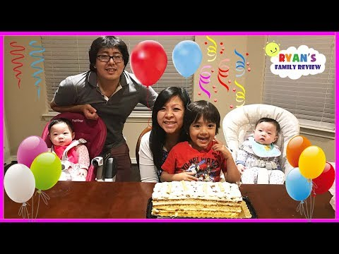 Happy Birthday Mommy! Family Fun  Surprise Presents and Birthday Party with Ryan's Family Review thumbnail