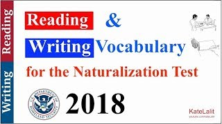Reading and Writing Vocabulary for the Naturalization Test (2017)