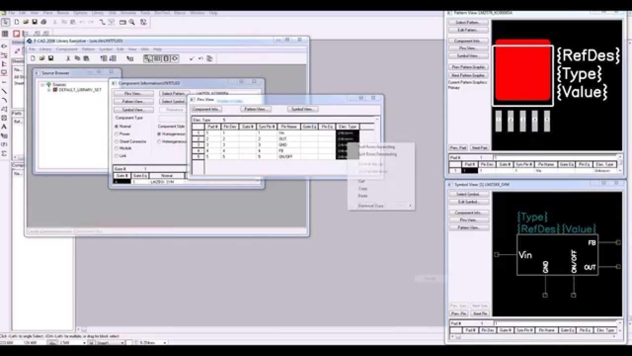 Создание посадочного места конденсатора кмметодом редактирования в графическом редакторе p-cad рсв - часть 5