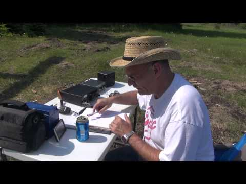Drummond Island MI  QRP Ham Radio QSO Operation Day 1 Ten Tec Argo V 5 watts