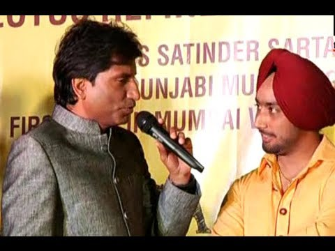 Raju Srivastav Attends Launch of Satinder Sartaajs New Album