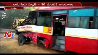 Road Accident : 2 Buses Crash || 6 Members Passes Away,30 Members Injured || UP || NTV