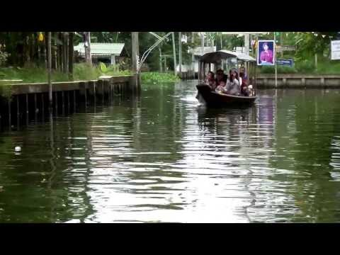 MARCHE FLOTTANT KHLONG LAD MAYOM     Promenade en bateau   VIDEO 2