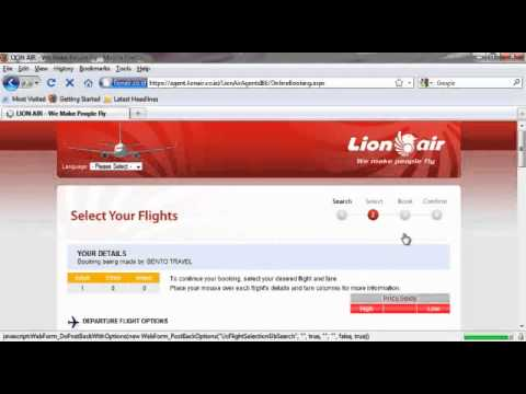 Booking Lion Air