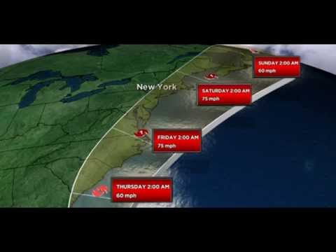 Hurricane Arthur strengthens to Category 2 as it bears down on East Coast