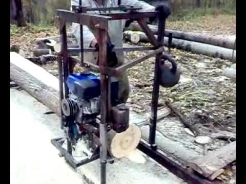 Бензиновая пилорама шинная своими руками