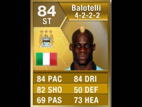 FIFA 13 Balotelli 84 Player Review & In Game Stats Ultimate Team
