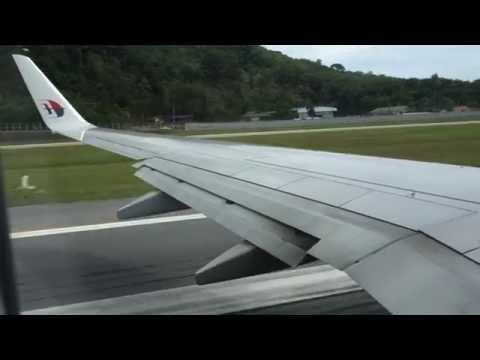 Malaysia Airlines 737-800 Phuket to KLIA Full Flight HD