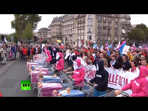 Tens Of Thousands Protest In France Against Surrogacy For Same-sex Families video