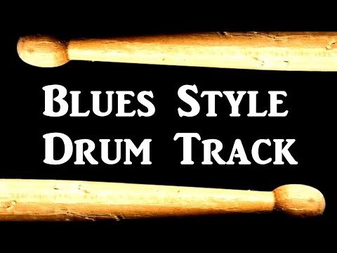 Drum Beat Slow Blues Rock 80 Bpm Bass Guitar Backing Track #95