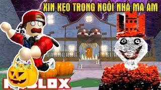 ROBLOX   Rủ KiA Đi Xin Kẹo Đêm Halloween Bị Lạc Vào Ngôi Nhà Ma Ám   Trick r Treat Obby   Vamy Trần