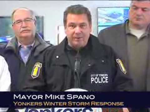 Yonkers Mayor Spano Holds Winter Storm Press Conference