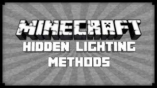 ► Minecraft: Hidden Lighting Solutions! ◄