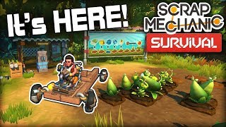 SURVIVAL is Finally Here and It's AMAZING! (Scrap Mechanic Survival Ep1)