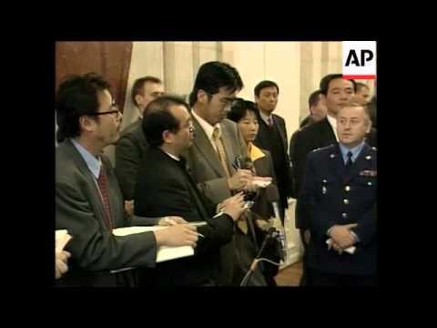 Japanese Defence Minister presser, comments on North Korea