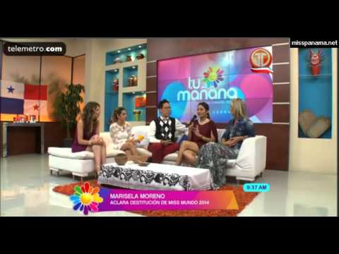 Marisela Moreno se refiere a destitución de Miss Panamá Mundo 1/2