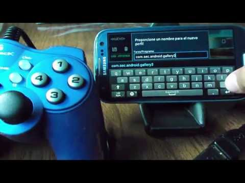 Aplicación para configurar un mando para PC en Android (Joypad-joystick)