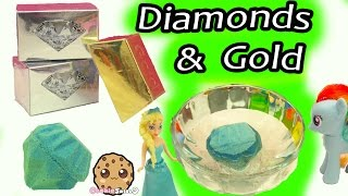 Surprise Dig It Digging Diamonds & Gold Bars In Water with My Little Pony - Cookie Swirl C Video