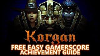 Korgan - FREE EASY Game - Full 1,000 Gamerscore Achievement Guide (Under 2 Hours)