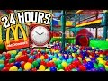 24 HOUR CHALLENGE in MCDONALDS PLAYPLACE FORT // LOCKED in MCDONALDS PLAY PLACE OVERNIGHT
