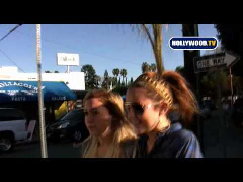 Miley Cyrus Swarmed by Paparazzi in Studio City