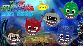Baby Shark Disney PJ Masks Cat Boy Owlette Gekko Romeo Luna Girl Shark Song Doo Doo Nursery Rhymes