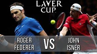 Roger Federer Vs John Isner - Laver Cup 2018 (Highlights HD)