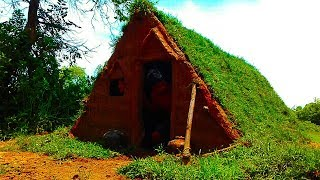 Building Mini Underground house and planting green gass