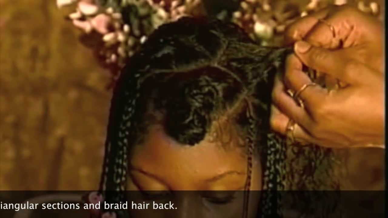 Natural Hair Care Individual Braids With Triangular Parts