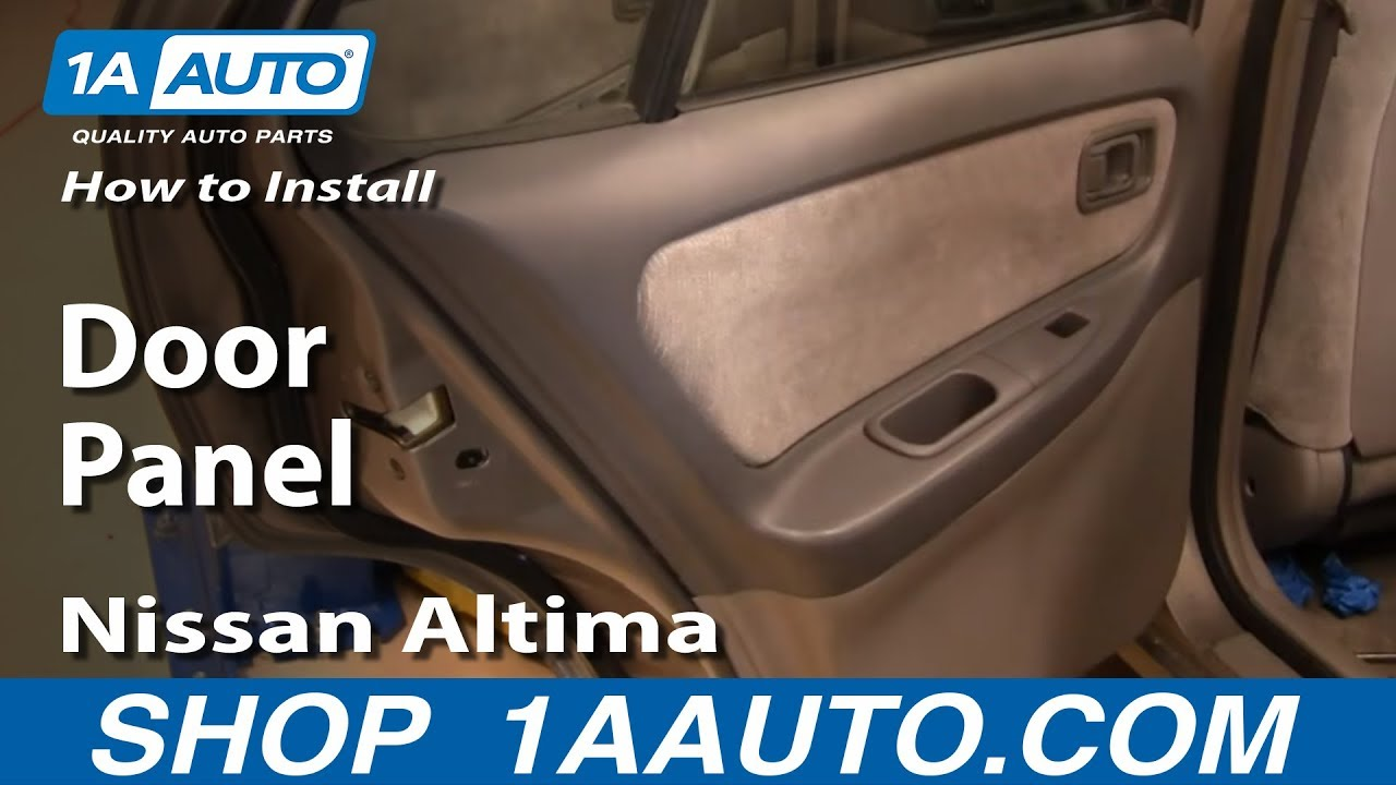 how to install replace remove rear door panel nissan altima 98 01 youtube. Black Bedroom Furniture Sets. Home Design Ideas